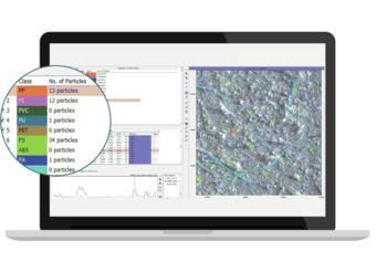 Einfache Übersicht: Sowohl Zusammenfassung der Ergebnisse als auch komplette Auflistung aller Partikel – farblich unterschieden nach Polymerart