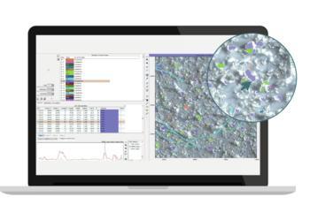 Nachvollziehbare Ergebnisse: Farbliche Kennzeichnung der Partikel im Mikroskopkamerabild und direkte Zuordnung zu den Ergebnistabellen