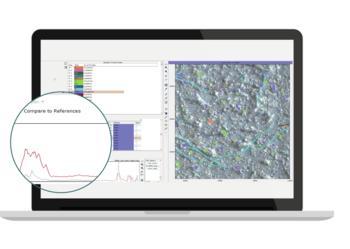 Transparente Ergebnisse: Überprüfungsmöglichkeit der Ergebnisse mit Referenzspektren oder durch Vergleich mit den Spektren der benachbarten Pixel