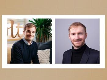 Miki Kuusi, CEO und Mitgründer von Wolt (links) und Lukasz Gadowski, Mitgründer von Delivery Hero (rechts)