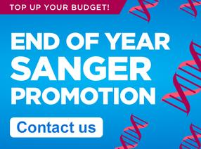 EOY Promo is valid for all our Prepaid Barcode Sanger Sequencing Tube Services. Contact us!