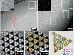 Nanopatterns of proteins detected by cryo-electron microscopy