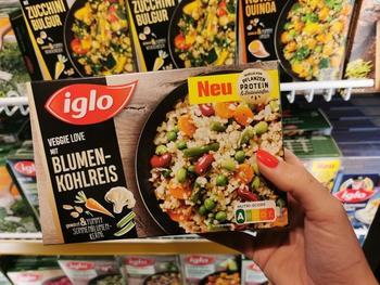 iglo bereits mit mehr als 100 Produkten mit der Ernährungsampel im Supermarkt