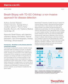 nicht-invasiven und schmerzfreien Workflow zur Früherkennung von Krankheiten anhand von Atemproben.