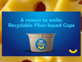 Kraft Mac & Cheese Recyclable Fiber-Based Cup