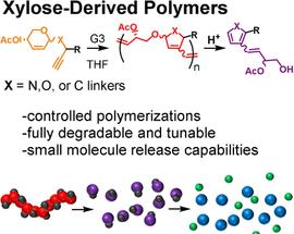 Degradable sugar-based polymers may store and release useful molecular freight