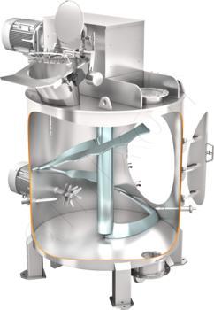 Vertical single-shaft mixer VM