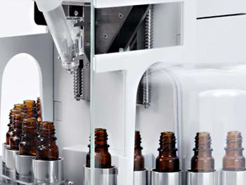 Automated dispensing into batches of containers is efficient and increases productivity.