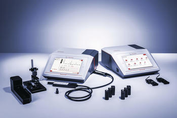Tailored accessories for liquid and solid samples, pills, foils, microscope slides, and very small samples
