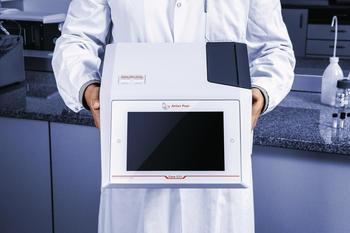 Robust – keine beweglichen Teile. Kompakte Bauweise mit optionaler Akku-Option für volle Flexibilität ob im Labor oder unterwegs.