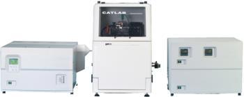 CATLAB-PCS complete system: Mass spectrometer, microreactor and temperature/gas control unit