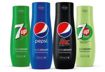 SodaStream PepsiCo Sirups: vl.n.r 7UP, Pepsi , Pepsi Max, 7UP free (ohne Zucker)