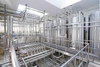 central CIP system for cleaning of a food production unit