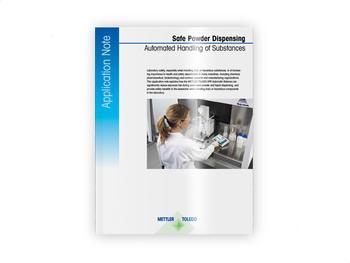 Safe Powder Dispensing. Automated Handling of Substances