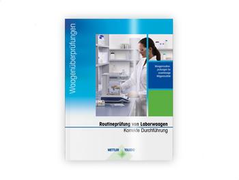Routineprüfung von Laborwaagen. Korrekte Durchführung
