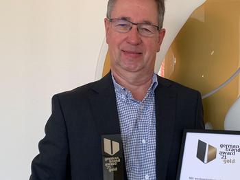 Klaus-Jürgen Philipp bei der Übergabe des German Brand Awards
