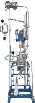 Customized production line on the smallest of footprints: reactor with distillation unit.