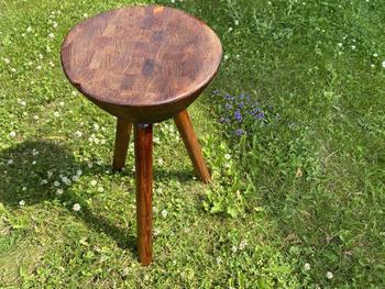 Ein mit Lignin aufgetragener Stuhl.
