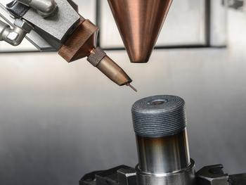 The combination of wire and powder tested at the Fraunhofer IPT led to increases in the hardness of the material of up to 30 percent.