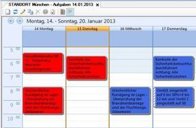 Einmalige und regelmäßig wiederkehrende Aufgaben in der Kalenderansicht mit Rückmeldung und Erledigungsvermerk