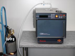 Veraschung unter Inertgas, z. B. Stickstoff
