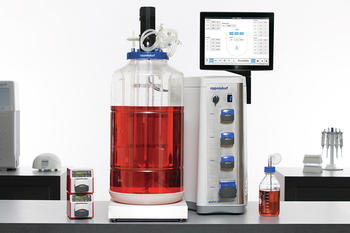The BioFlo 320 is compatible with 250 mL – 40 L BioBLU Single-Use Vessels