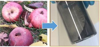 kohlenstoffbasierte Material für Natrium-Ionen-Batterien aus Äpfeln