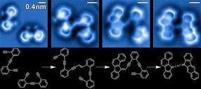 reacción de moléculas de enediina