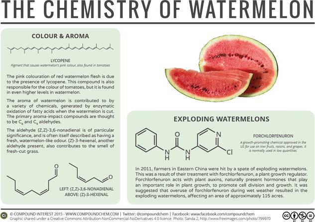 The Chemistry of Watermelons: Colour, Aroma, & Explosions