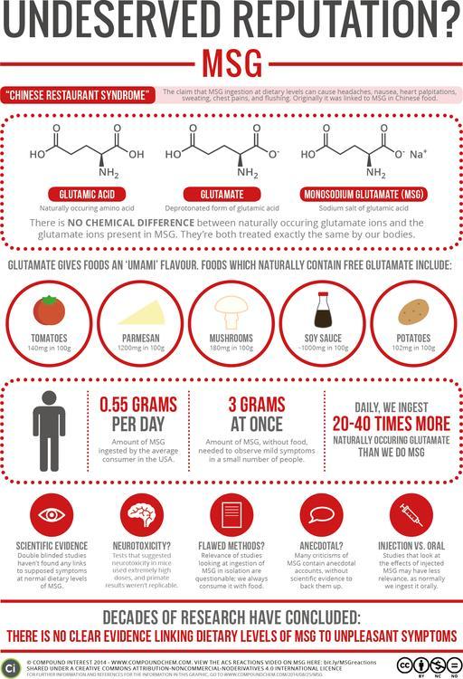 Monosodium Glutamate – An Undeserved Reputation?