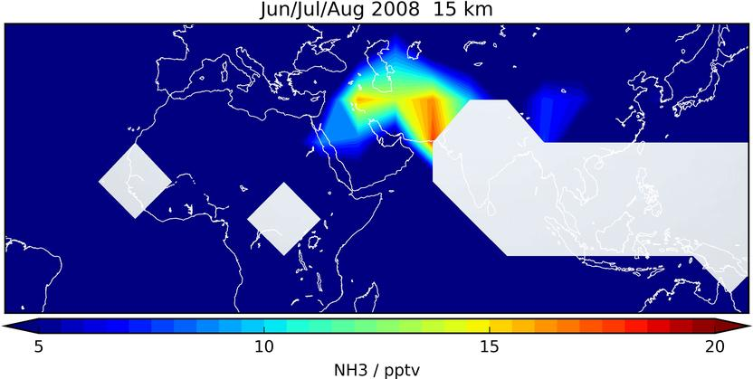 Erstmals Ammoniak In Der Oberen Troposphäre Nachgewiesen