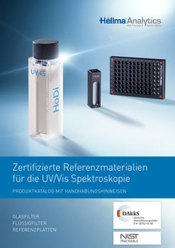 Certified reference materials for UV/Vis spectroscopy by Hellma Analytics