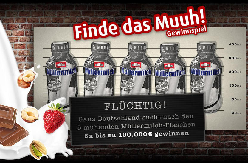 Gewinnspiel Müller Milch